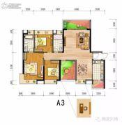 翔龙天地3室2厅2卫0平方米户型图