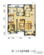 碧桂园・学府壹号3室2厅2卫115平方米户型图