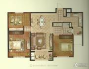 景瑞望府3室2厅1卫98平方米户型图