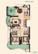 翡丽蓝湾3室2厅2卫124平方米户型图