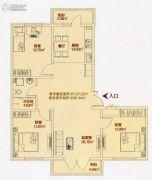 铂宇剑桥郡3室2厅1卫0平方米户型图