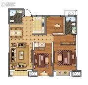 上城印象3室2厅2卫105平方米户型图