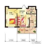 红星凯悦1室1厅1卫0平方米户型图
