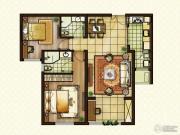 红星国际2室2厅2卫100平方米户型图