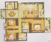 恒信广场3室2厅2卫148平方米户型图