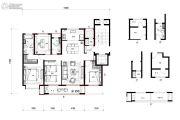 万科望庐花苑4室2厅2卫139平方米户型图