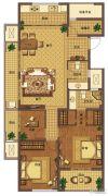 信达翰林兰庭4室2厅2卫130平方米户型图
