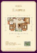 瑞璞君悦兰庭3室2厅1卫106--108平方米户型图