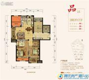 紫元尚宸3室2厅2卫99平方米户型图