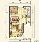 万达西双版纳国际度假区1室1厅1卫51平方米户型图
