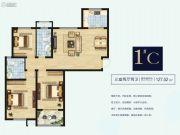 安阳荣盛华府3室2厅2卫127平方米户型图