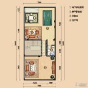 浪琴湾1室2厅1卫115平方米户型图