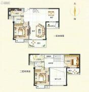 霞浦东泰华府3室3厅3卫148平方米户型图