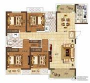 奥兰和园4室2厅2卫143平方米户型图