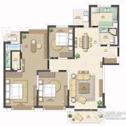 合生财富海景公馆4室2厅2卫0平方米户型图