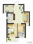 金桥澎湖山庄2室2厅1卫74平方米户型图