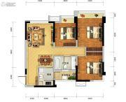瑞升望江橡树林3室2厅1卫84平方米户型图