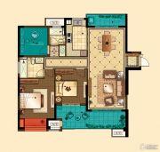 星河国际3室2厅2卫130平方米户型图