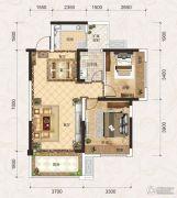 联发君悦壹号2室2厅1卫73平方米户型图