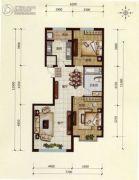 万锦逸城2室2厅1卫95平方米户型图