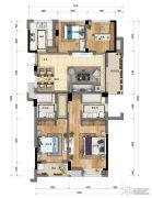 新天地・金色时光4室2厅2卫118平方米户型图