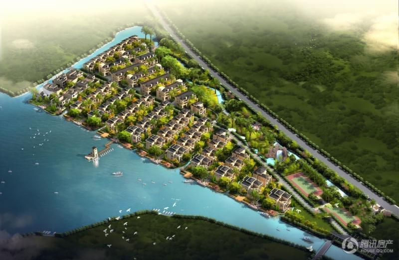 天鹅湖庄园鸟瞰图