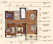 弘洋・凡尔赛花园3室2厅1卫98平方米户型图