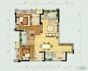 北大资源燕南2室2厅2卫83平方米户型图