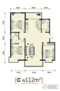 滨洲华府3室2厅2卫0平方米户型图