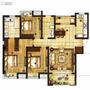 吴中豪景华庭3室2厅1卫140平方米户型图