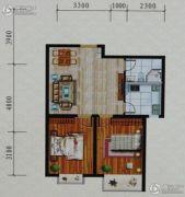 鸿飞逸景2室2厅1卫0平方米户型图