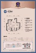 工大左岸1室1厅1卫0平方米户型图