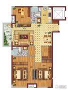 万科企业公馆3室2厅2卫119平方米户型图