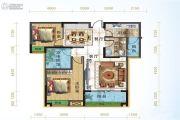 宜化绿洲新城2室2厅1卫93平方米户型图