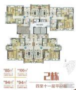 雅居乐万科热橙85--100平方米户型图