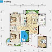 港锦新城3室2厅2卫119平方米户型图