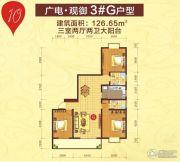 广电・观御3室2厅2卫126平方米户型图