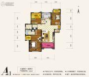 天朗大兴郡3室2厅2卫123平方米户型图