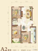 御景园2室2厅1卫95平方米户型图