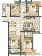 天润国际花园4室2厅2卫142平方米户型图