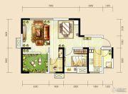 世茂城2室2厅1卫68平方米户型图