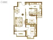 恒大城2室2厅1卫95平方米户型图