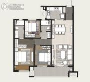 万科美景世�d3室2厅2卫128平方米户型图
