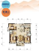 顺德碧桂园4室2厅2卫125平方米户型图
