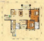福庆花雨树2室2厅2卫117平方米户型图
