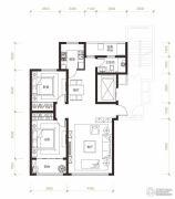 曦园2室2厅1卫105平方米户型图