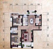 瀚海尊爵2室2厅1卫118平方米户型图