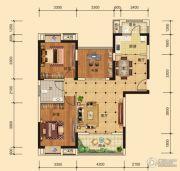 东湖雅居3室2厅1卫93平方米户型图