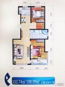格林逸水苑三期2室2厅1卫103--108平方米户型图