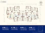 东部美的城3室2厅2卫108--132平方米户型图